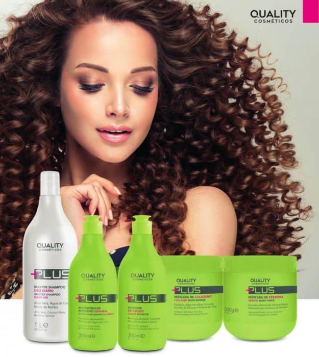 Kit Linha quality Plus - Shampoo- Intensivo - queratina - colágeno - Ativador de Cachos (0)