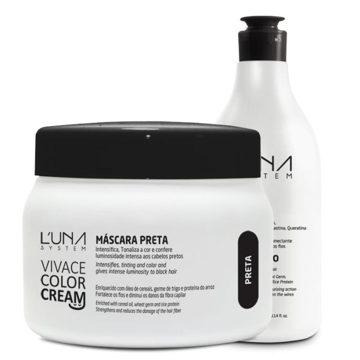 Vivace Color Cream - Shampoo + Máscara Preto (0)